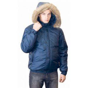 Куртка-аляска зимняя Спринт синяя