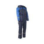 Костюм утепленный рабочий Балтика темно-синий с васильковым