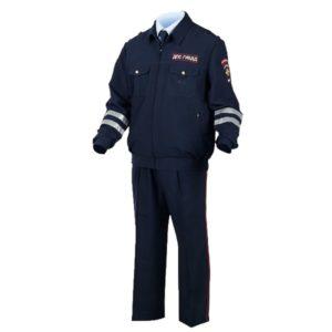 Костюм  «Полиция»  син-черный  тк.Габардин