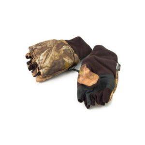 Флисовые перчатки без пальцев со съемным верхом